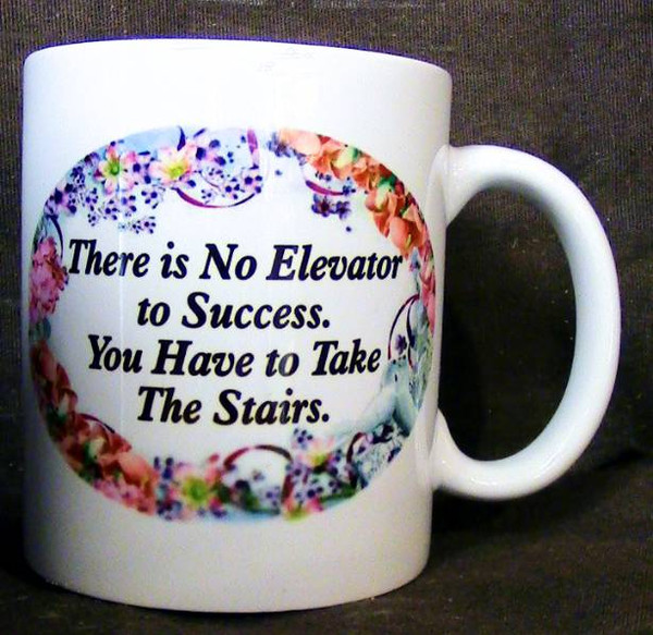 """Cup of Wisdom Candle - """"There is No Elevator to Success. You Have to Take the Stairs."""""""