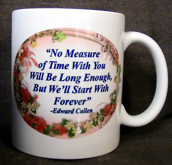 "Cup of Wisdom Candle- ""No Measure of Time With You Will Be Long Enough, But We'll Start With Forever"""