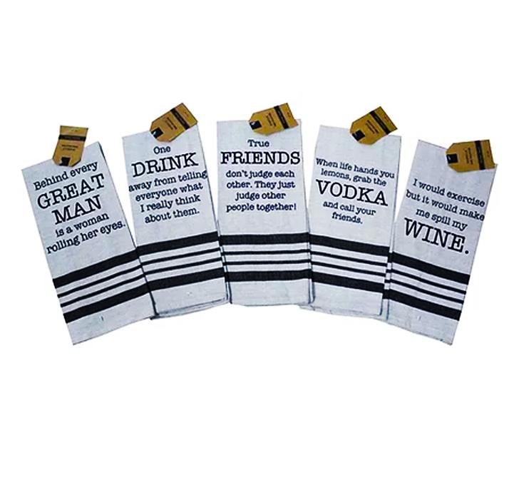 Decorative Towel - Vintage Sayings