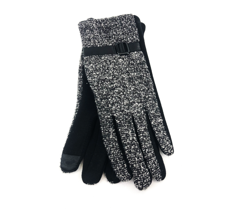 Gloves - Women Marled Touch Screen - Black