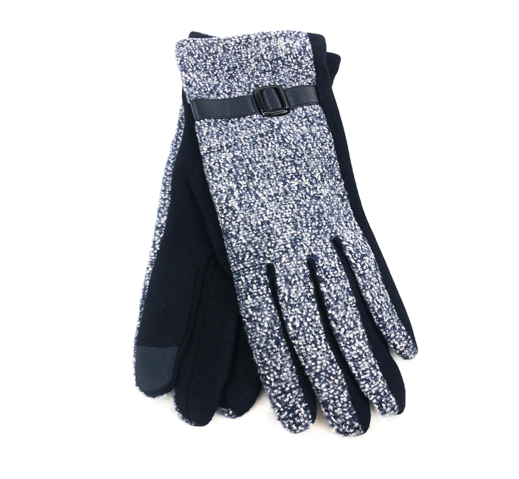 Gloves - Women Marled Touch Screen - Blue