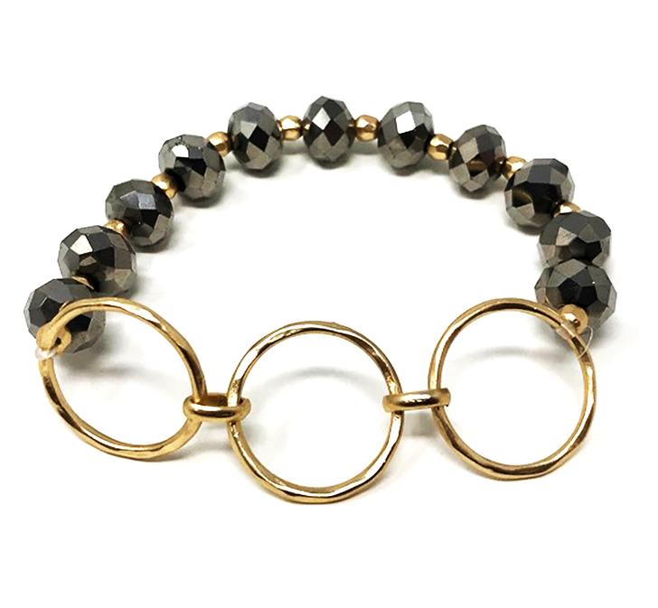 3 Ring Stretch Bracelet