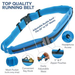 2 Pocket Waist Running Belt