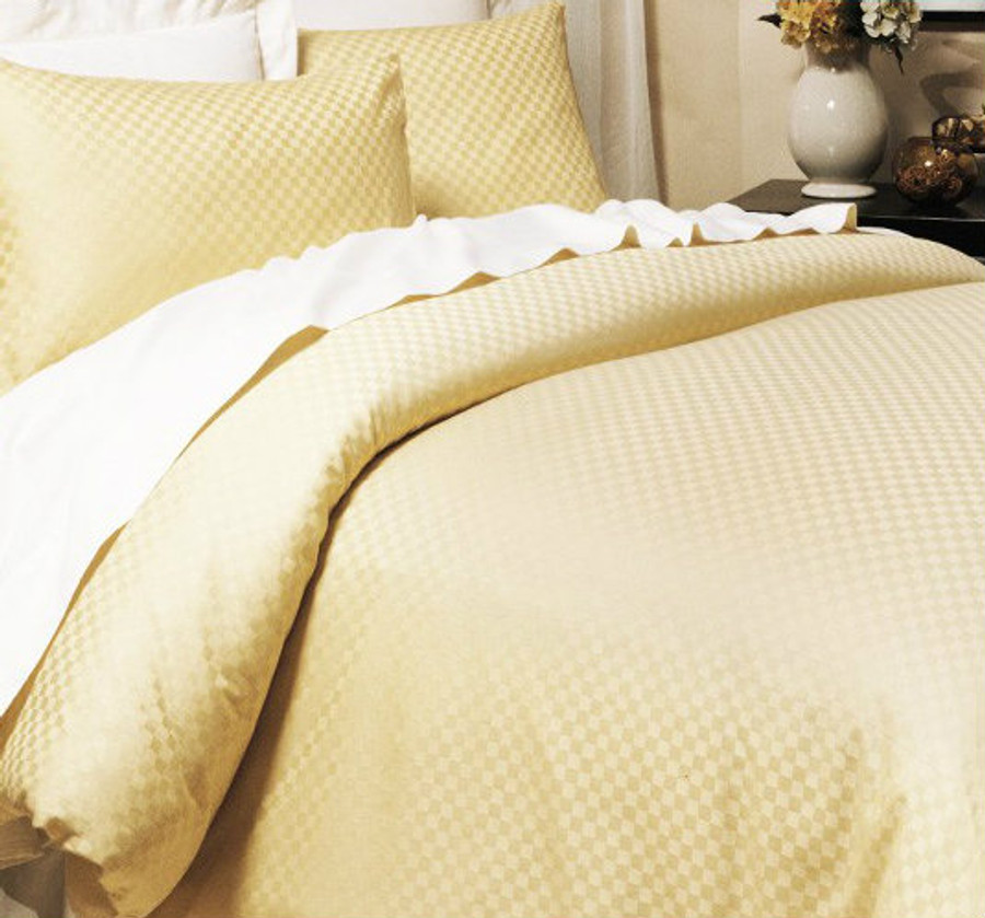Organic Cotton Damask Checkered Sheet Sets|Damask Sheet Set-Well iving Shop