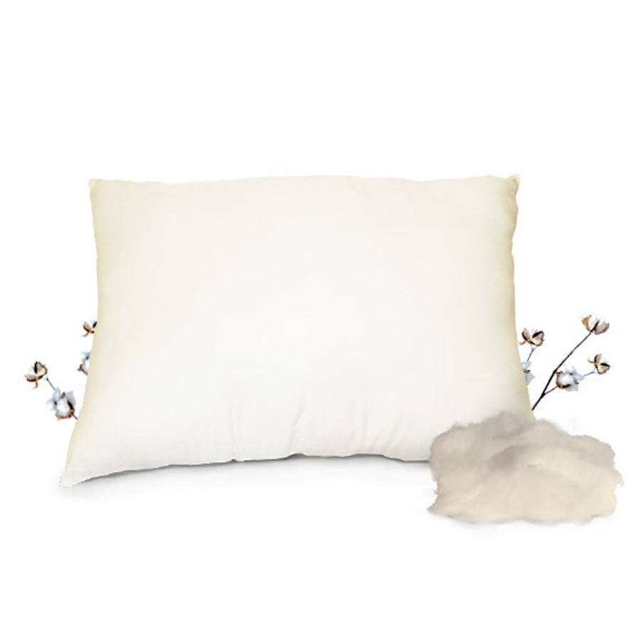 100% Organic Cotton Pillow|Organic Cotton Pillows|Organic Cotton Pillows made in usa-Well Living Shop