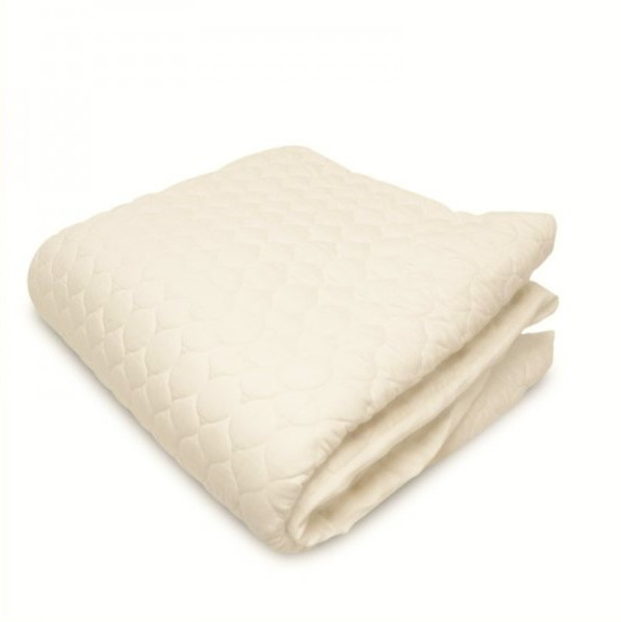 Organic Cotton Fitted Mattress Pad|Fitted Mattress Pad-Well Living Shop