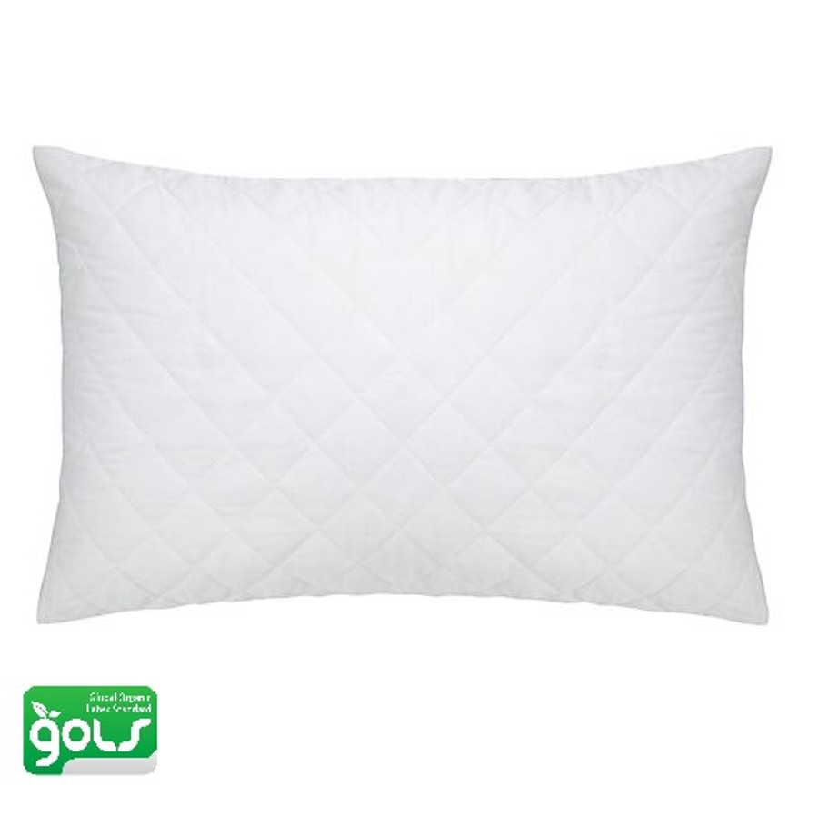 Quilted Organic Shredded Latex Pillow|Organic Shredded Latex Pillow -Well Living Shop