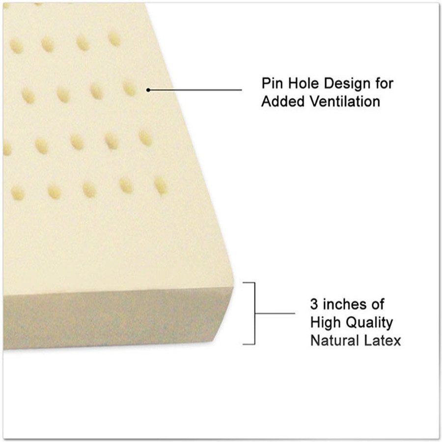"All Natural Latex Topper|3"" All Natural Mattress Latex Topper -Well Living Shop"