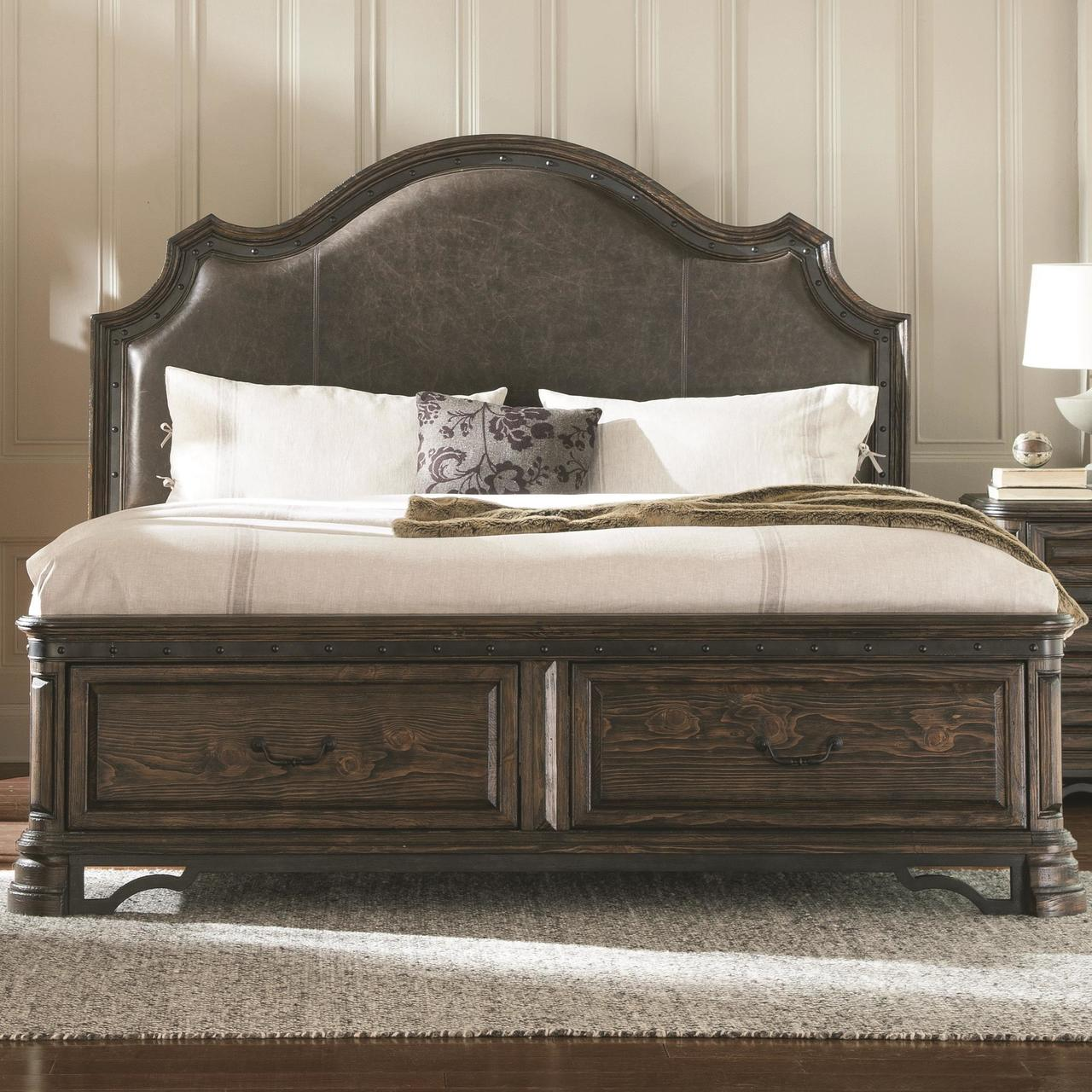 Carlsbad King Storage Bed With Upholstered Headboard Bigcommerce Development