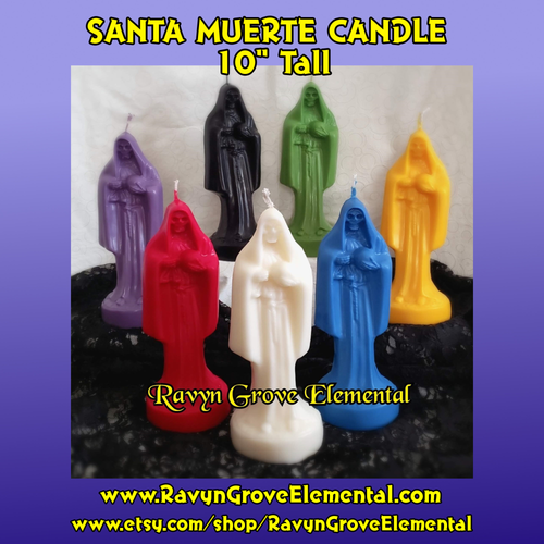 Use our Santa Muerte Candle to call on the powers of The Holy Death for various purposes according to the colors.