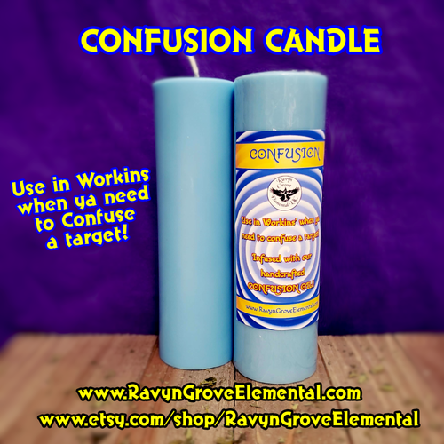 Use our Confusion Candle to confound your enemies, a Ravyn Grove Elemental exclusive.