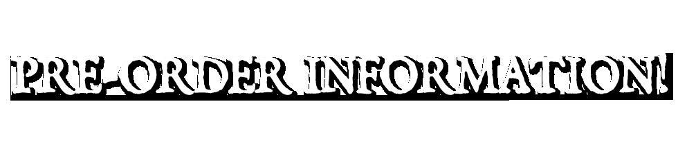 Pre Order Info VolatileMerch.com