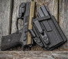 CZ P-07 with O-Light Mini Appendix Carry Holster Black Basketweave