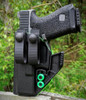 Left Handed Glock 19 Appendix Carry Holster with Soft Loops