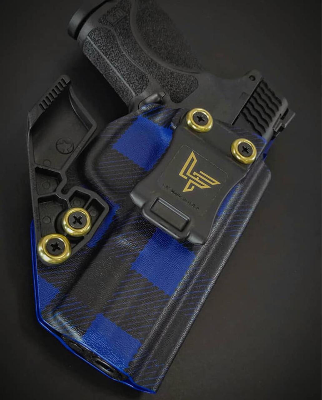 M&P Compact 2.0 Blue Flannel  Appendix Carry Kydex Holster