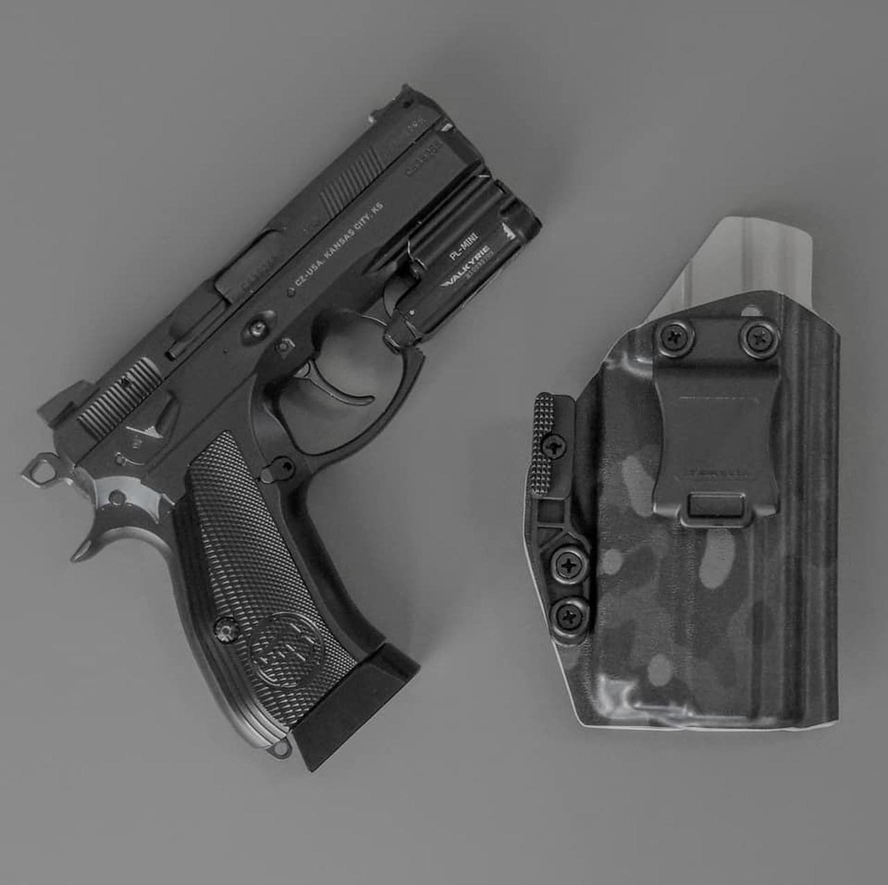CZ P-01 with O-Light PL Mini Black Supercam Holster