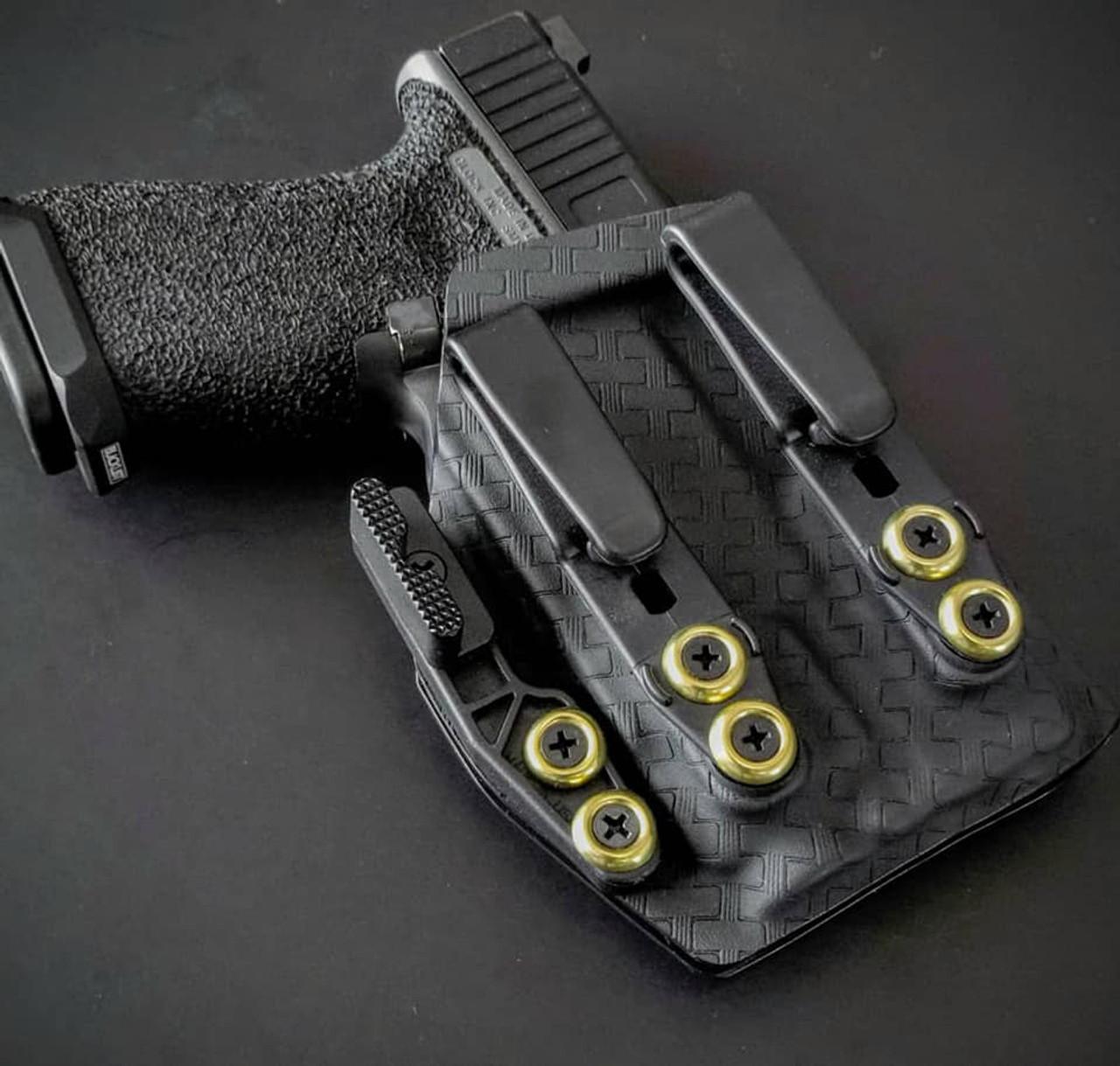 Glock 19 with TLR7 Holster Black Basketweave