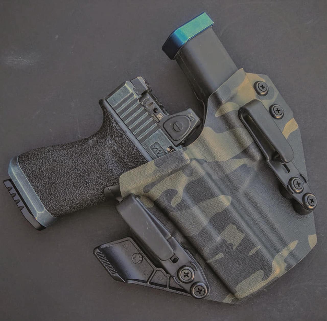 Glock 19 Black Multicam  Sidecar Appendix Carry Rig Holster
