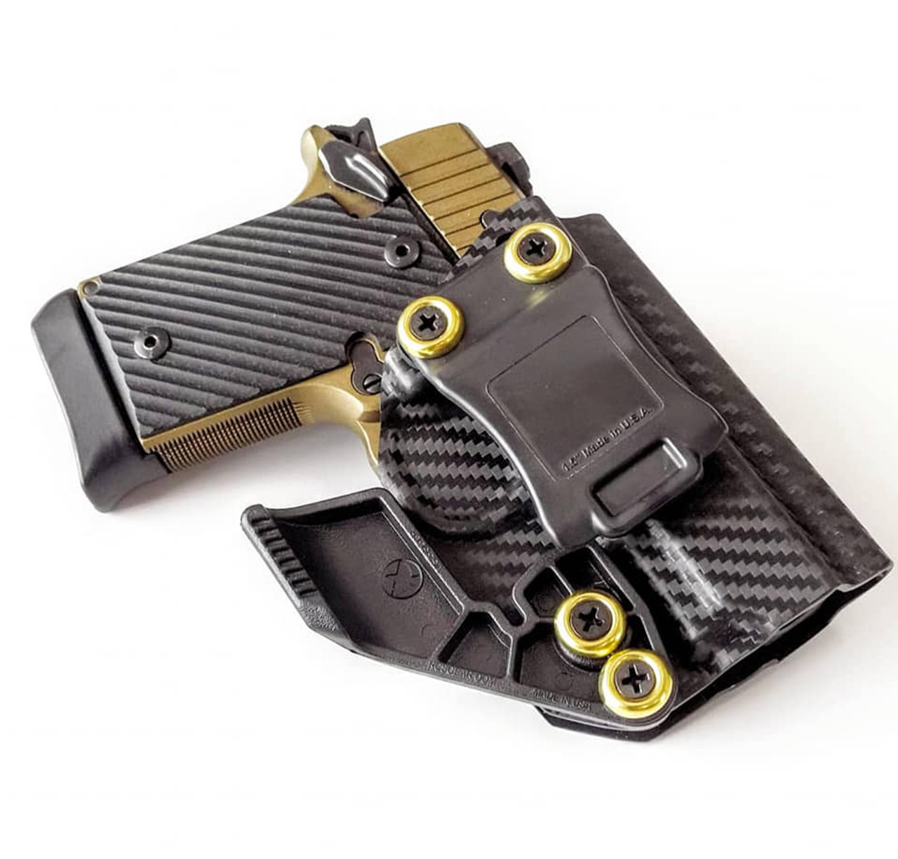 Sig P938 Carbon Fiber Appendix Carry Kydex Holster