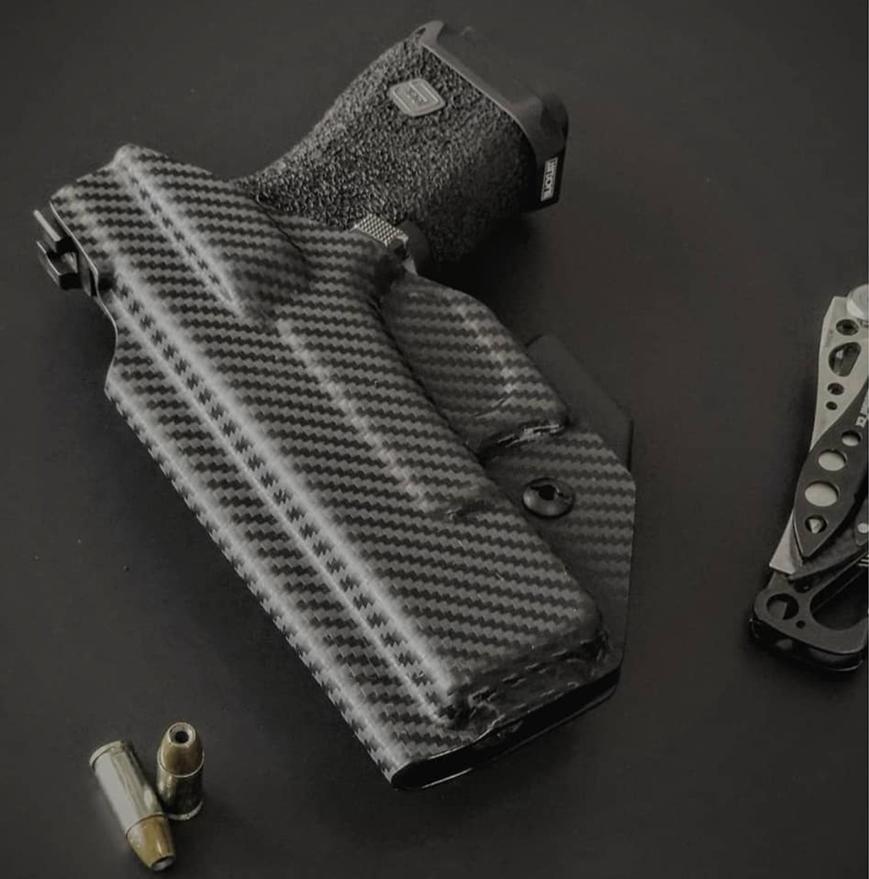 Glock 19 Carbon Fiber Appendix Carry Kydex Holster