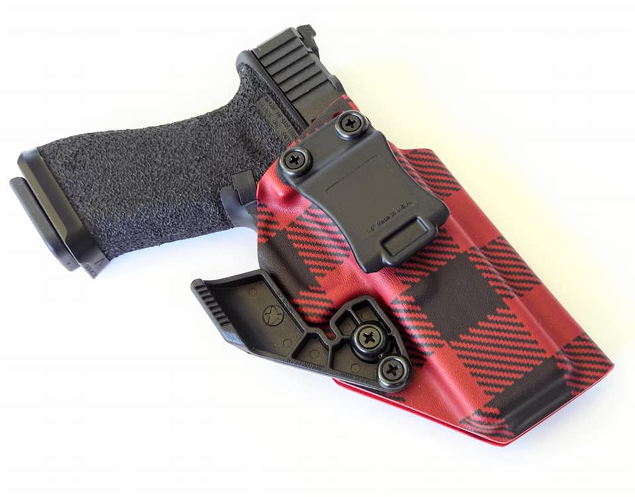 Glock 17 Appendix Carry Kydex Holster Red Flannel