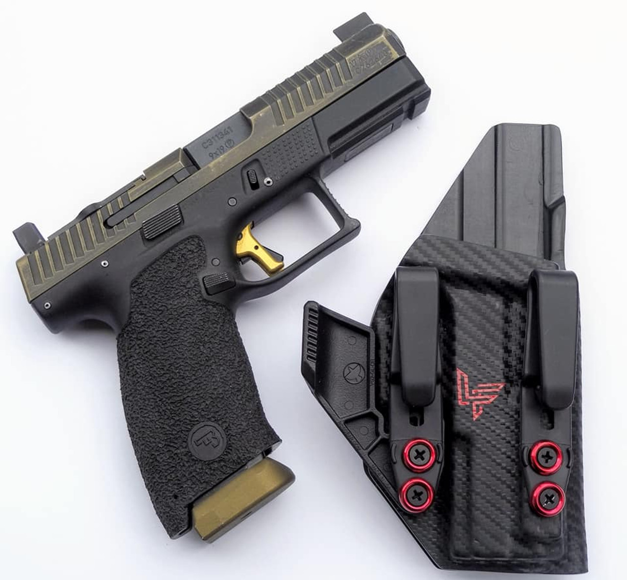 CZ P10c Carbon Fiber Dual Hook Appendix Carry Holster