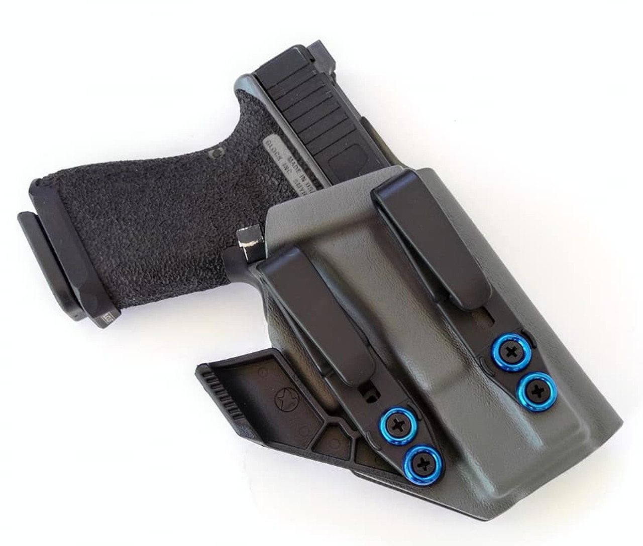 Glock 19 Dual Hook Appendix Carry Holster