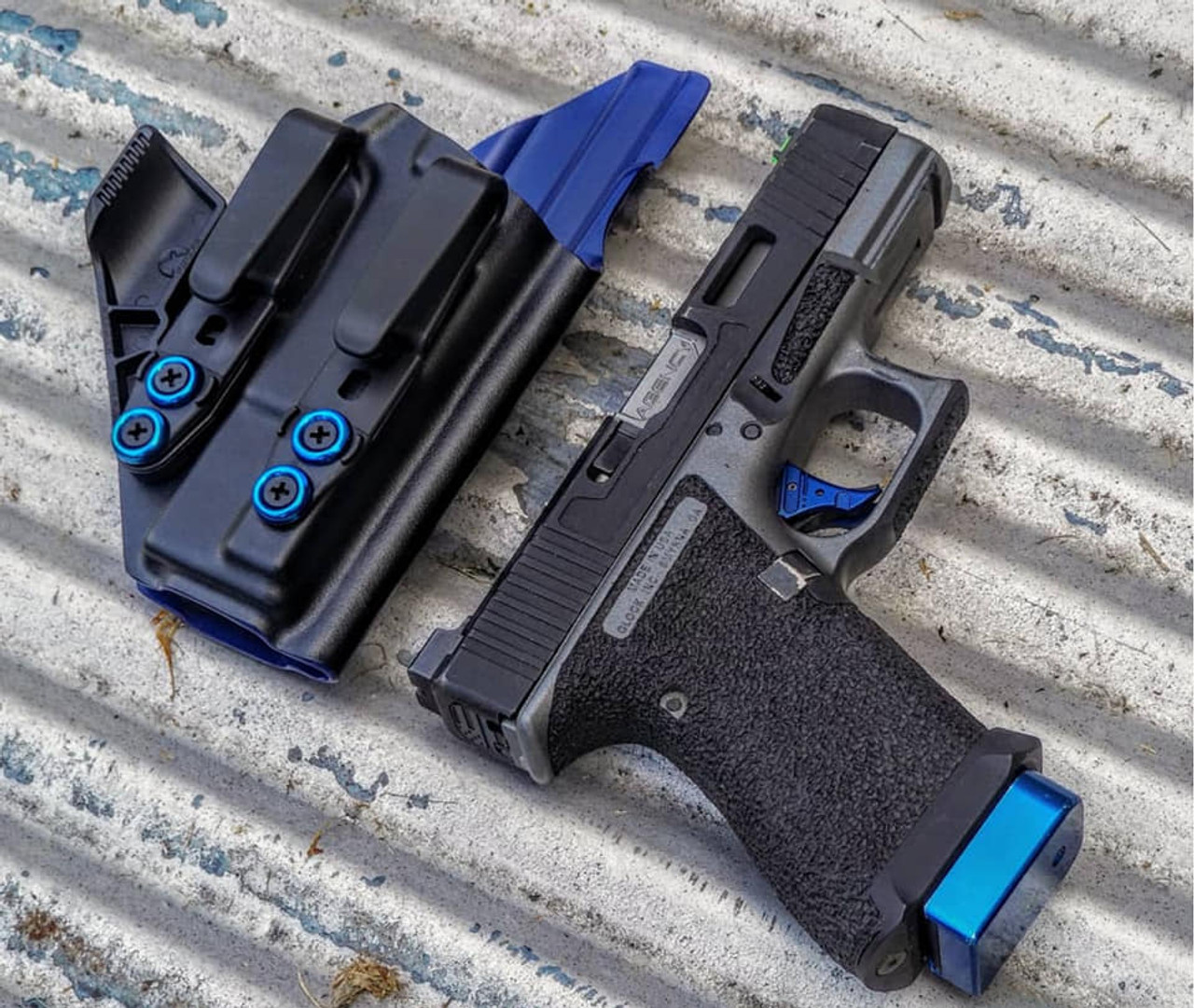 Black and Blue Glock Holster