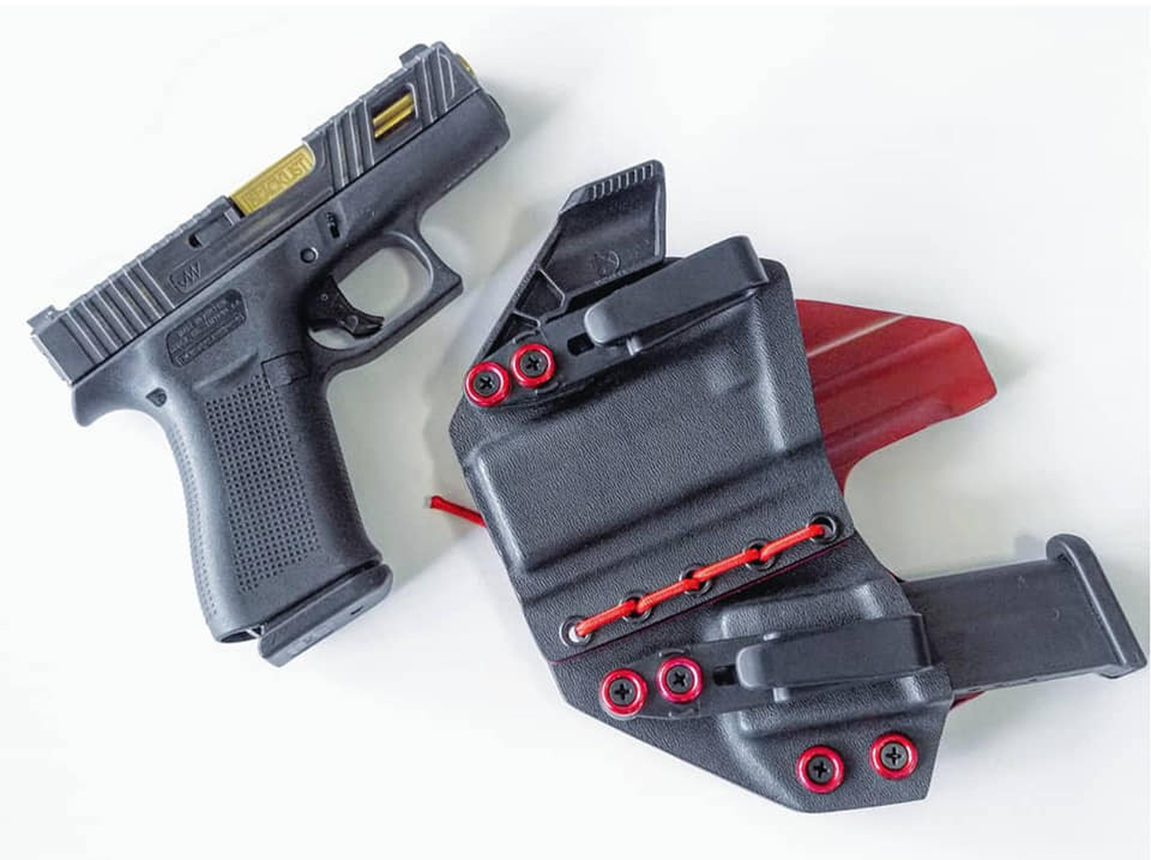 Glock 43 Appendix Carry Rig Holster with Shockcord