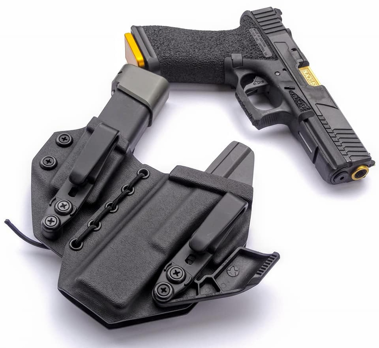 Glock 17 Left Handed Appendix Carry Rig Holster with Shockcord