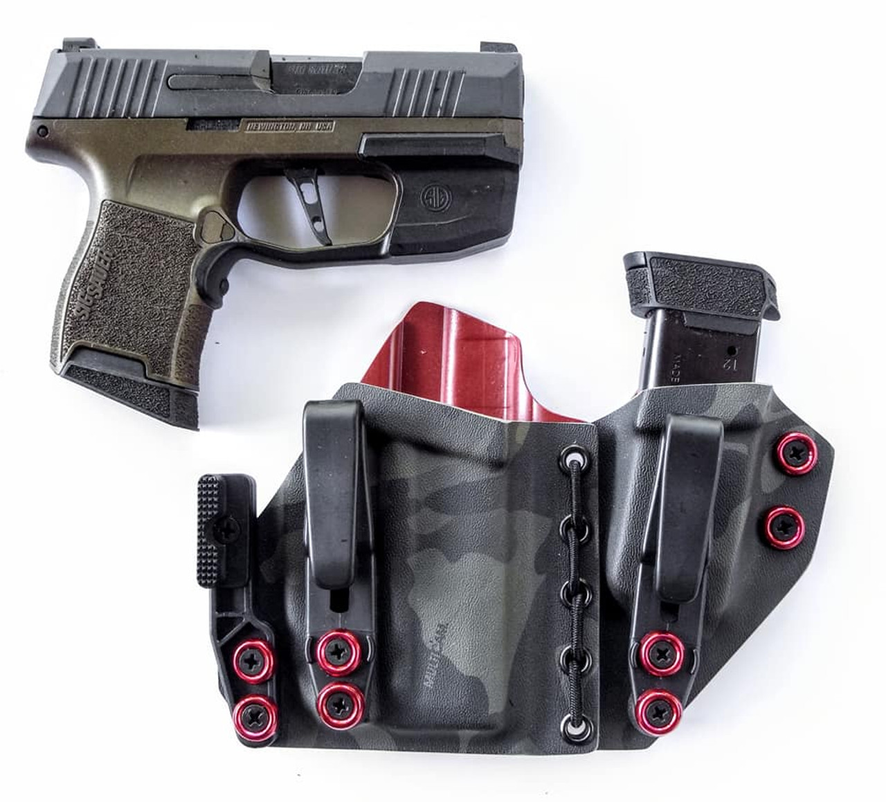 Sig P365 with Foxtrot Light Flexible Appendix Carry Rig Holster