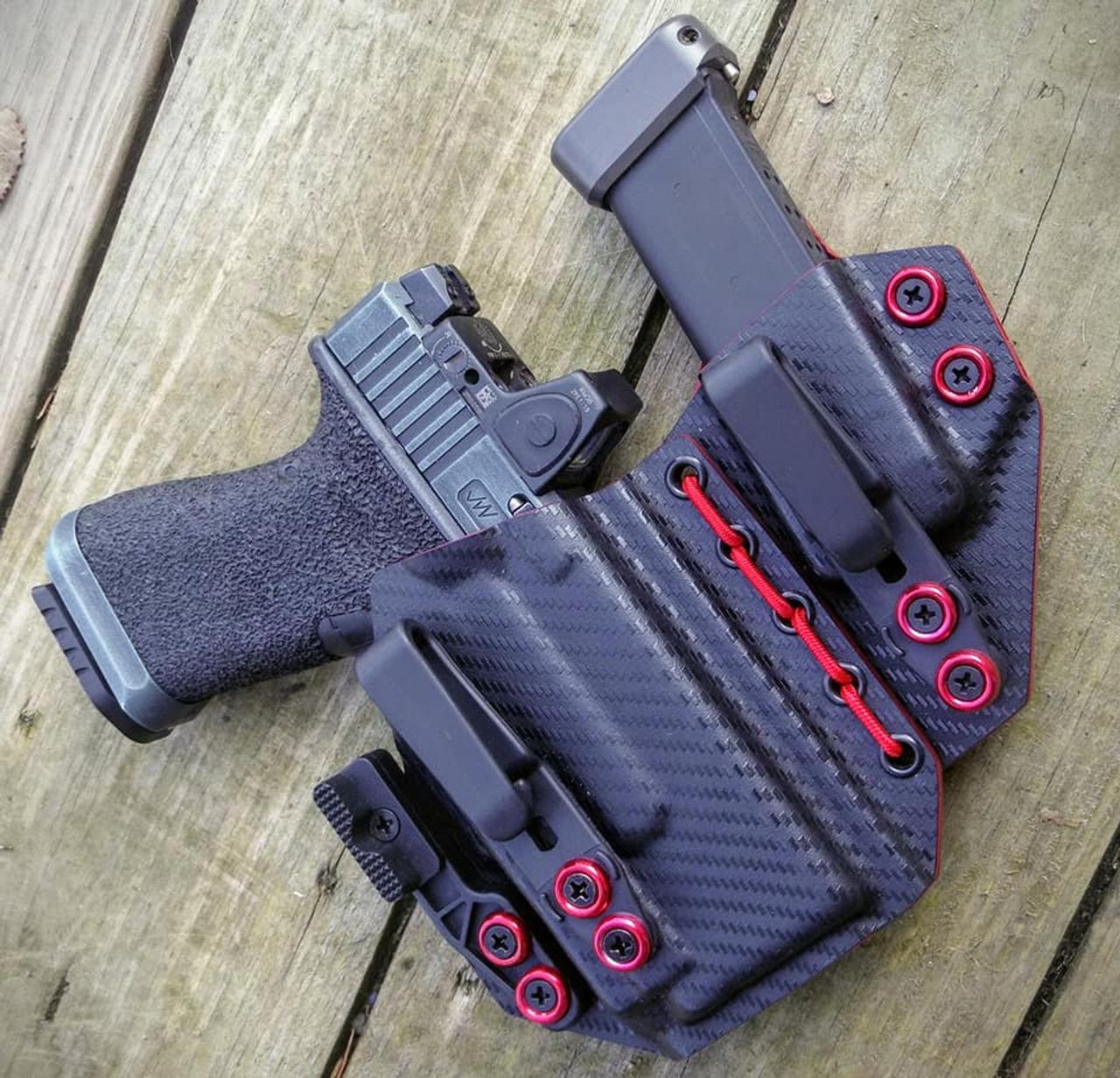 Glock 19 OLight PL Mini Flexible Appendix Carry Rig