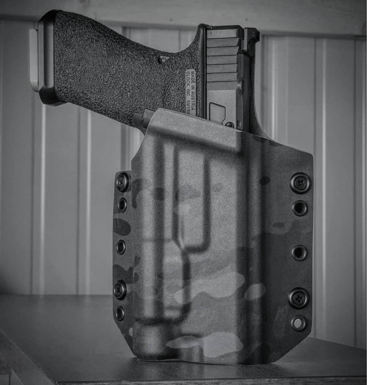 Glock 17 TLR1 Black Multicam OWB Holster