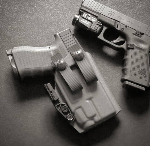 Glock 19 with Streamlight TLR7 Appendix Carry Holster