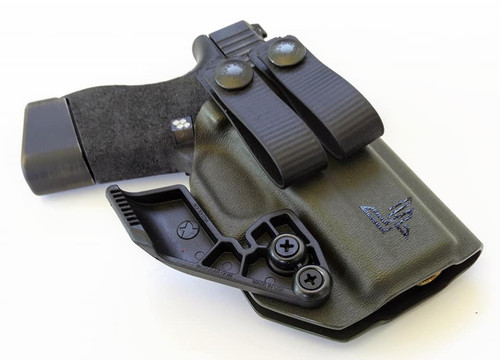 Glock 43 Appendix Carry Holster with Soft Loops