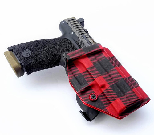 CZ P-10c Paddle Holster Red Flannel