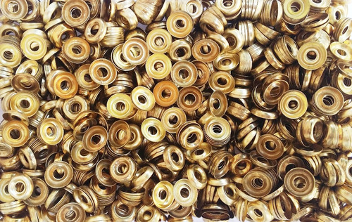 #8 Gold Finish Washers (100 Pack)