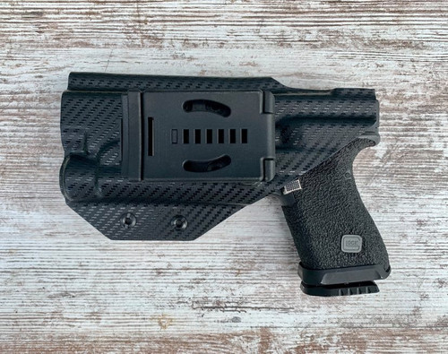 Glock 17 with Streamlight TLR1 Light Bearing Outside Waistband Holster