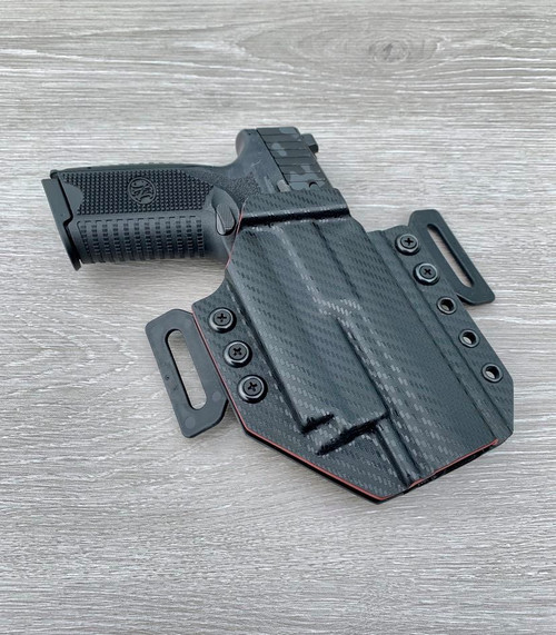 FN 509 Comped w/ OLight PL Mini 2 Outside Waistband Holster