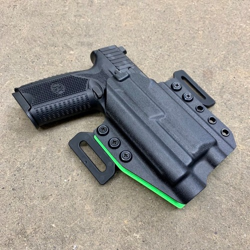 FN 509 Tactical w/ OLight PL Pro Light Bearing Outside Waistband Holster