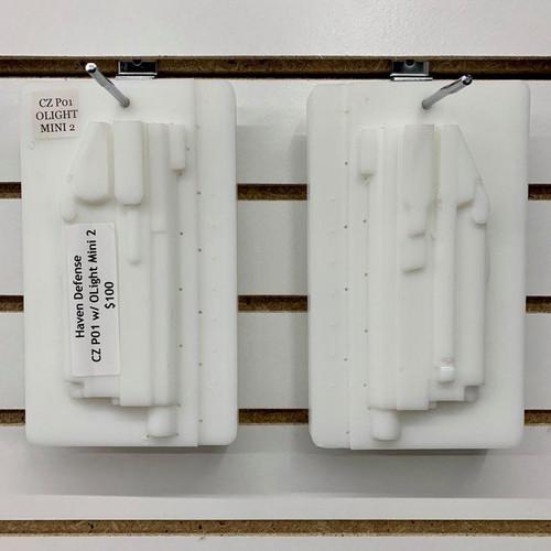Haven Defense CZ P01 w/ OLight Mini 2 CNC Mold