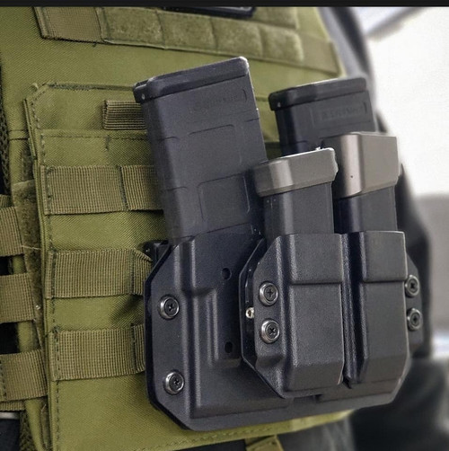 Molle Lok Double AR Mag Carrier w/ Pistol Mag Carriers