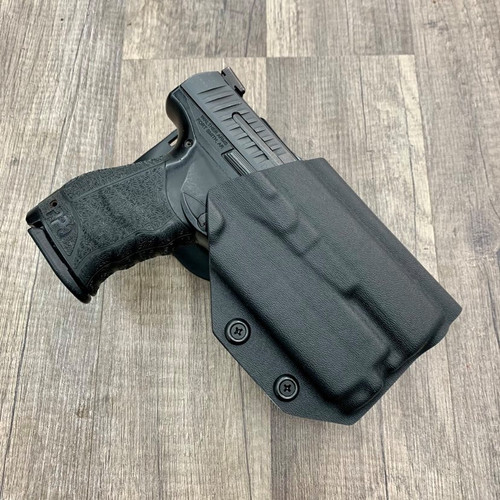 Walther PPQ w/ OLight Baldr Mini Light Bearing Outside Waistband Holster