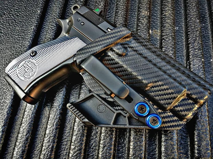 CZ 75 Compact PCR Appendix Carry Holster Carbon Fiber