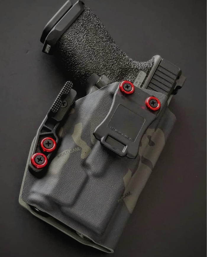 Glock 19 with Inforce APLc Black Multicam Holster