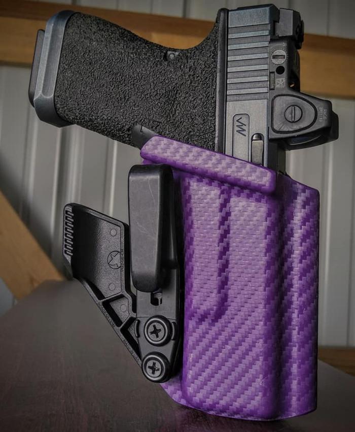 Glock 19/23 Purple Carbon Appendix Carry Holster