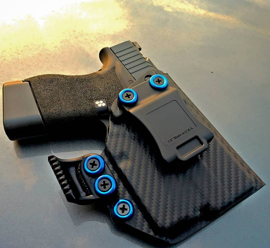Glock 43 with TLR6 Appendix Carry Holster