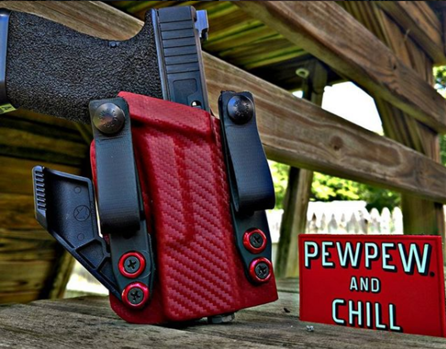 Glock 19 Red Carbon Fiber Appendix Carry Holster