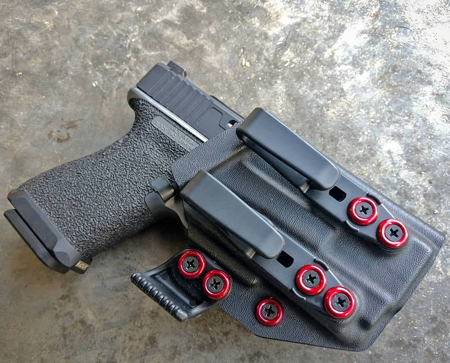 Glock 19 with OLight PL Mini Appendix Carry Holster