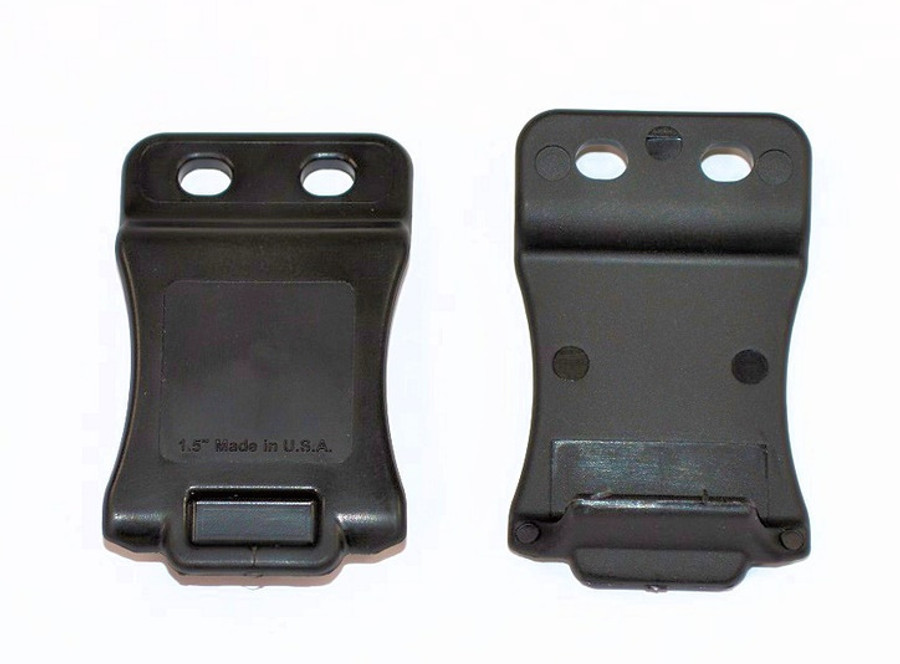 QUICK-CLIP, BLACK, WITH SLOTTED HOLES